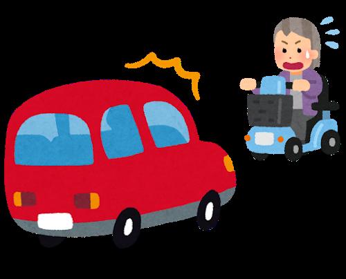 高齢者が外出して事故に遭遇するイメージ