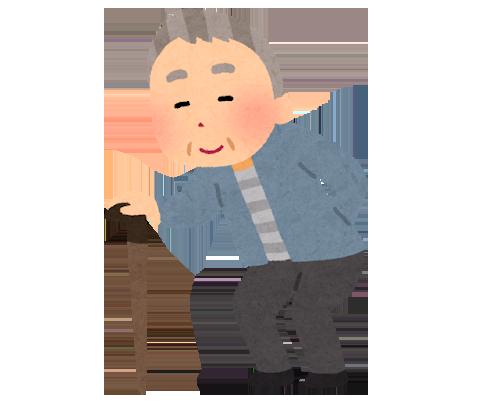 高齢者が外出するイメージ