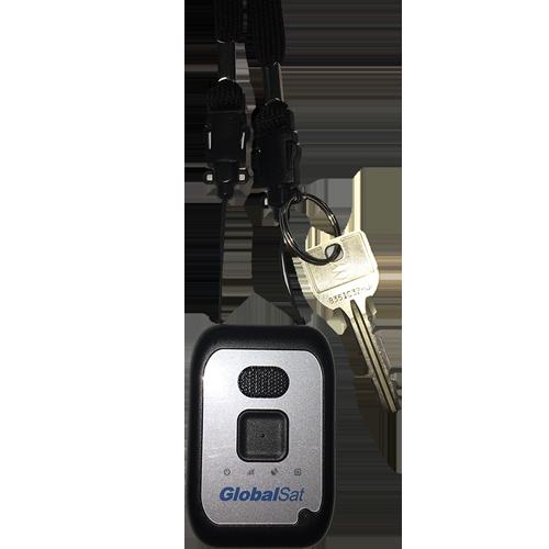徘徊見守りサービス「絆GPS」端末用ストラップ使用イメージ